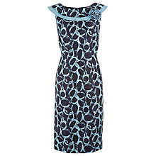 Buy Jacques Vert Circle Print Bardot Shift Dress, Blue Online at johnlewis.com