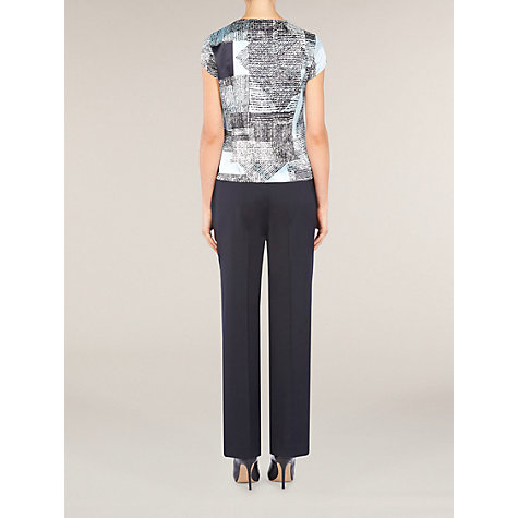 Buy Planet Square Print Blouse, Blue Online at johnlewis.com