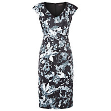 Buy Alexon Sateen Print Dress, Multi Monochrome Online at johnlewis.com