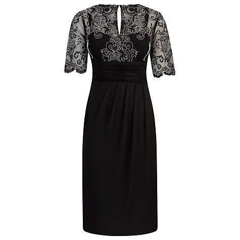 Buy Alexon Lace Detail Jersey Dress, Black Online at johnlewis.com