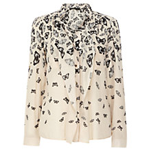 Buy Oasis Butterfly Border Shirt, Multi Online at johnlewis.com