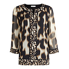 Buy Windsmoor Animal Print Tunic Top, Neutral Online at johnlewis.com