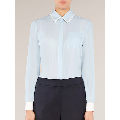 Buy Planet Contrast Blouse, Blue Online at johnlewis.com