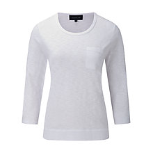 Buy Viyella Cotton Jersey Top, White Online at johnlewis.com