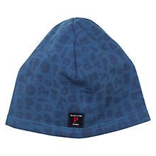 Buy Polarn O. Pyret Logo Print Hat, Blue Online at johnlewis.com