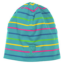 Buy Polarn O. Pyret Baby Stripe Beanie Hat, Green/Multi Online at johnlewis.com