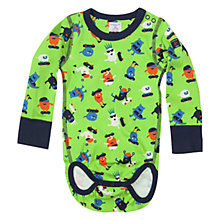 Buy Polarn O. Pyret Baby Character Print Bodysuit, Green Online at johnlewis.com
