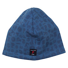 Buy Polarn O. Pyret Baby Logo Print Hat, Blue Online at johnlewis.com