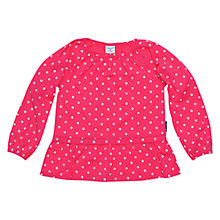 Buy Polarn O. Pyret Long Sleeve Spotty Top, Pink Online at johnlewis.com