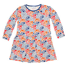 Buy Polarn O. Pyret All Over Print Heart Dress, Blue/Multi Online at johnlewis.com