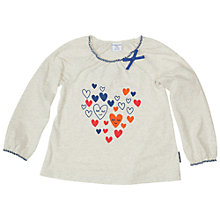 Buy Polarn O. Pyret Baby Heart Print T-Shirt, Neutral/Multi Online at johnlewis.com