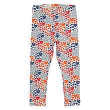 Buy Polarn O. Pyret Heart All-Over Print Leggings, Blue/Multi Online at johnlewis.com