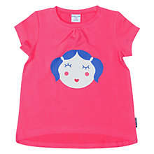 Buy Polarn O. Pyret Girls' Face Print T-Shirt Online at johnlewis.com