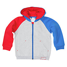 Buy Polarn O. Pyret Boys' Block Colour Hoodie, Grey/Multi Online at johnlewis.com