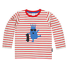 Buy Polarn O. Pyret Boys' Stripe Character Motif T-Shirt, Red Online at johnlewis.com