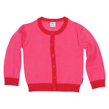 Buy Polarn O. Pyret Knitted Cardigan, Pink Online at johnlewis.com