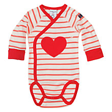 Buy Polarn O. Pyret Striped Wraparound Heart Applique Bodysuit Online at johnlewis.com