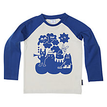 Buy Polarn O.Pyret Baby Character Print Top, Blue Online at johnlewis.com