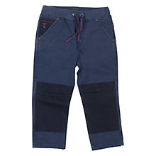 Buy Polarn O. Pyret Boys' Canvas Trousers, Blue Online at johnlewis.com