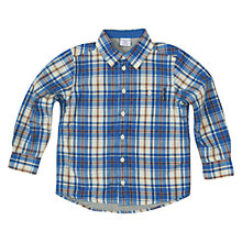 Buy Polarn O. Pyret Poplin Shirt, Blue Online at johnlewis.com