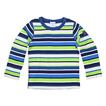 Buy Polarn O. Pyret Baby Stripe Long Sleeve T-Shirt, Blue/Green Online at johnlewis.com