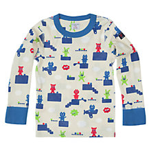 Buy Polarn O. Pyret All-Over Game Print Top, Blue/Multi Online at johnlewis.com