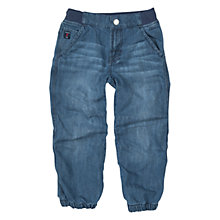Buy Polarn O. Pyret Boys' Stretch Waistband Denim Jeans, Blue Online at johnlewis.com