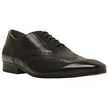 Buy Dune Rodriguez Leather Brogues, Black Online at johnlewis.com