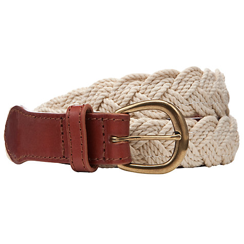 Buy John Lewis Cotton Plait Belt Online at johnlewis.com