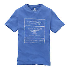 Buy Timberland Graphic Short Sleeve T-Shirt, Campanula Blue Online at johnlewis.com
