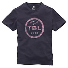 Buy Timberland Cotton Logo T-Shirt, Navy Online at johnlewis.com