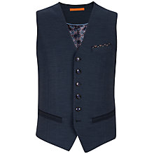 Buy Ted Baker Textured Waistcoat, Navy Online at johnlewis.com