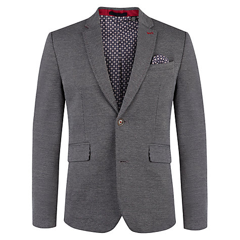 Buy Ted Baker Fitluce Jacquard Blazer, Navy Online at johnlewis.com