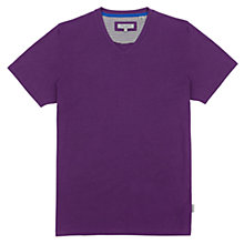 Buy Ted Baker Bravhat V-Neck Short Sleeve T-Shirt, Purple Online at johnlewis.com