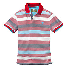 Buy Timberland Cotton Stripe Polo Shirt, Raspberry Online at johnlewis.com