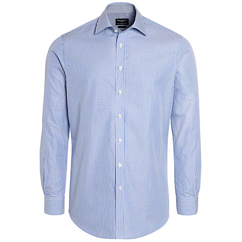 Buy Hackett London Classic Stripe Long Sleeve Shirt Online at johnlewis.com