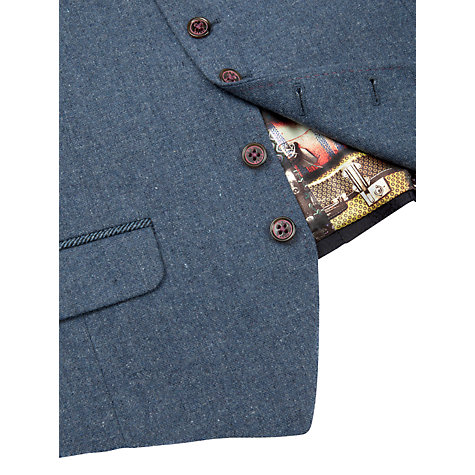 Buy Ted Baker Kawewai Wool Rich Waistcoat, Blue Online at johnlewis.com