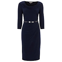 Buy Planet Cropped Sleeve Jersey Dress, Blue Online at johnlewis.com