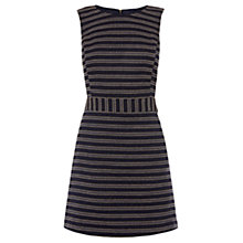 Buy Warehouse Stripe Tweed Dress, Blue Stripe Online at johnlewis.com