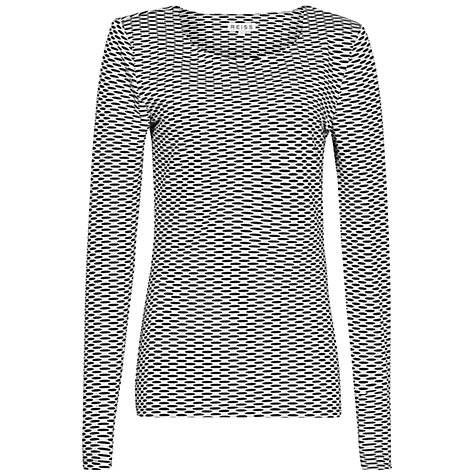 Buy Reiss Bodycon Top, Black/White Online at johnlewis.com