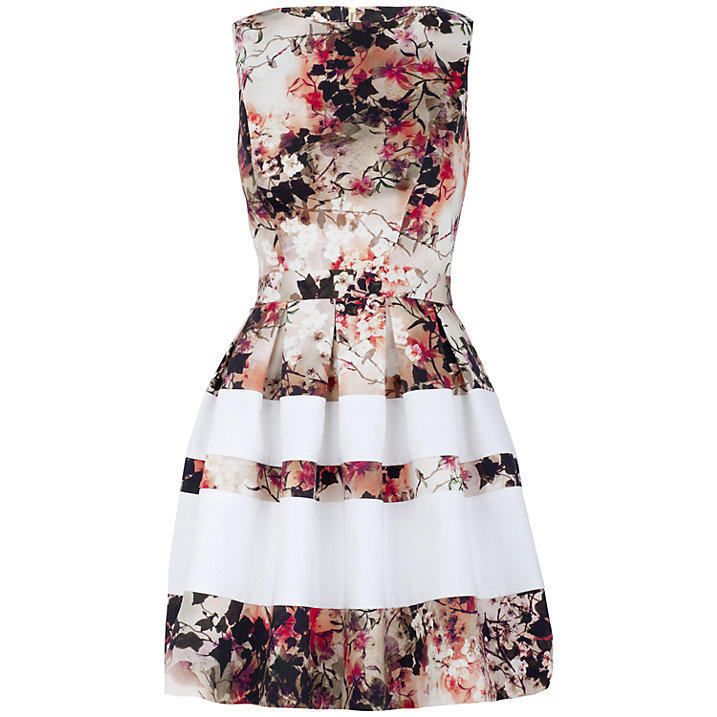Buy Almari Multi Print Band Skater Dress, Multi, 8 Online at johnlewis.com