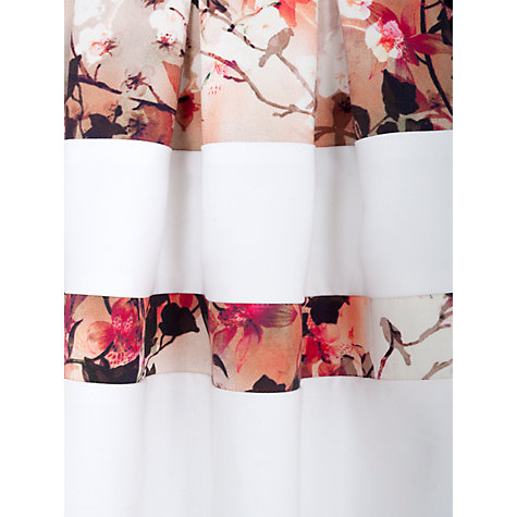 Buy Almari Multi Print Band Skater Dress, White-Multi Online at johnlewis.com