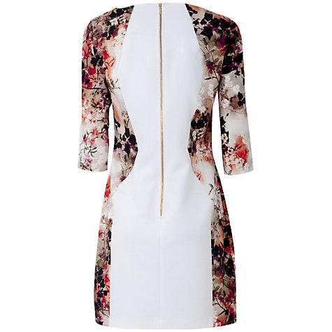 Buy Almari Multi Print And Plain Dress, White-Multi Online at johnlewis.com