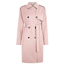 Buy NW3 by Hobbs Tara Trenchcoat, Flamingo Pink Online at johnlewis.com