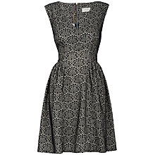 Buy Almari Lace Gathered Dress, Black Online at johnlewis.com