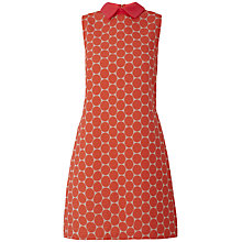 Buy Almari Big Spot Collared Dress, Coral Online at johnlewis.com