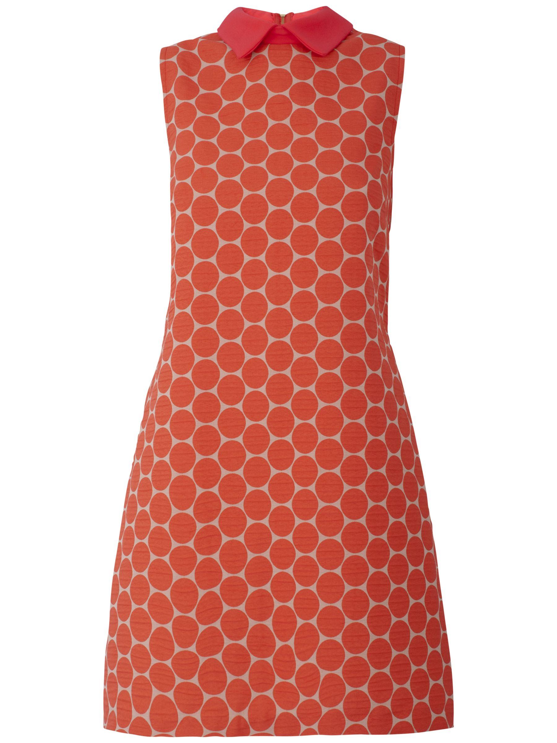 almari big spot collared dress coral, almari, big, spot, collared, dress, coral, 14|12|8|10, women, womens dresses, 1125125