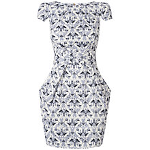 Buy Closet Jewel Print Dress, Grey Online at johnlewis.com