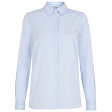 Buy Hobbs Brooke Shirt, Powder Blue Online at johnlewis.com