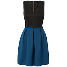 Buy Closet V Neck Contrast Dress, Blue Online at johnlewis.com